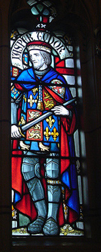 Jasper Tudor, Stained Glass at Cardiff Castle, Cardiff, Wales