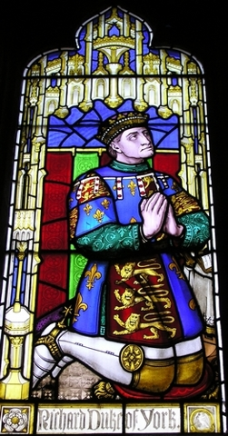 Richard Plantagenet, 3rd Duke of York, stained glass window in St. Laurence's Church, Ludlow