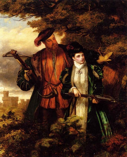 William Powell Frith - Henry VIII And Anne Boleyn Deer Shooting