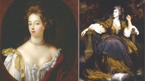 English Actresses Nell Gwyn (left) and Sarah Siddons (right)