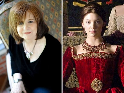 Susan Bordo (left) and Natalie Dormer as Queen Anne Boleyn