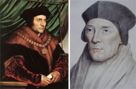 St. Thomas More (right) and St. John Fisher (left)