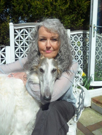 Gill Leaf and her beloved borzoi Rushka