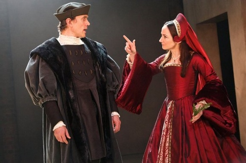 Ben Miles and Linda Leanard (WOLF HALL/BRING UP THE BODIES, Royal Shakespeare Company) Photo Credit: Donald Cooper