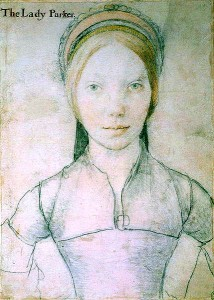 This Holbein drawing is believed to be Jane Parker Boleyn, Viscountess Rochford.