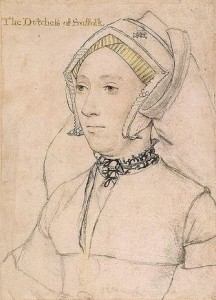 Catherine Willoughby, Duchess of Suffolk (Artist: Holbein)