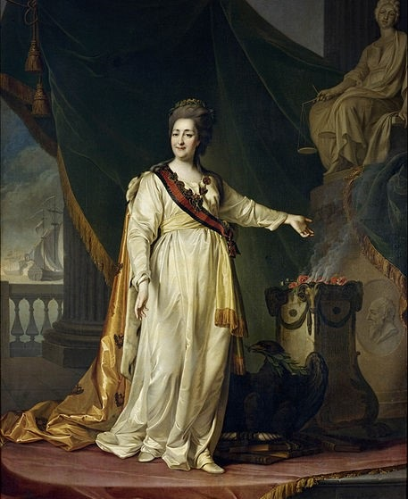 Catherine the Great of Russia  Portrait of Catherine II the Legislatress in the Temple of the Goddess of Justice (Artist: Dmitry Levitsky)