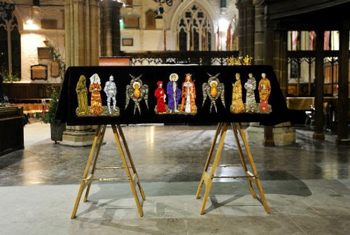 The coffin of King Richard III at Leicester Cathedral. Photo Credit: Modern Medievalism