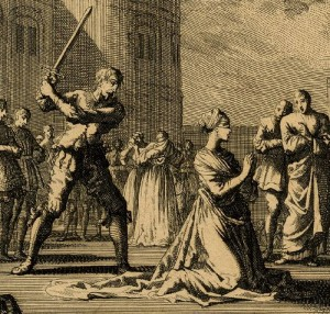 Execution of Anne Boleyn Victorian Era Engraving
