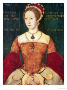 Lady Mary Tudor, age 28 Artist: John of Samakov