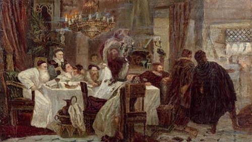 Secret Seder in Spain During the Inquisition Portrait Credit:  Moshe Maimon 1892