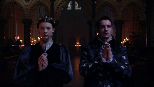 Natalie Dormer as Anne Boleyn with Jonathan Rhys Meyers as Henry VIII Credit: The Tudors, Showtime