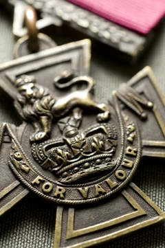 The Victoria Cross is awarded for supreme courage, a disregard for danger and complete devotion to duty.