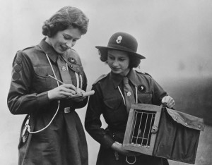 Princess Elizabeth (left) and Princess Margaret (right) as Girl Guides