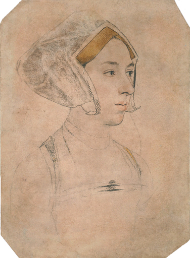 This sketch by Hans Holbein the Younger is thought by some art historians to be Queen Anne Boelyn.