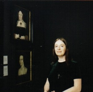 "Alison Weir with two of ""The Six Tudor Queens"""