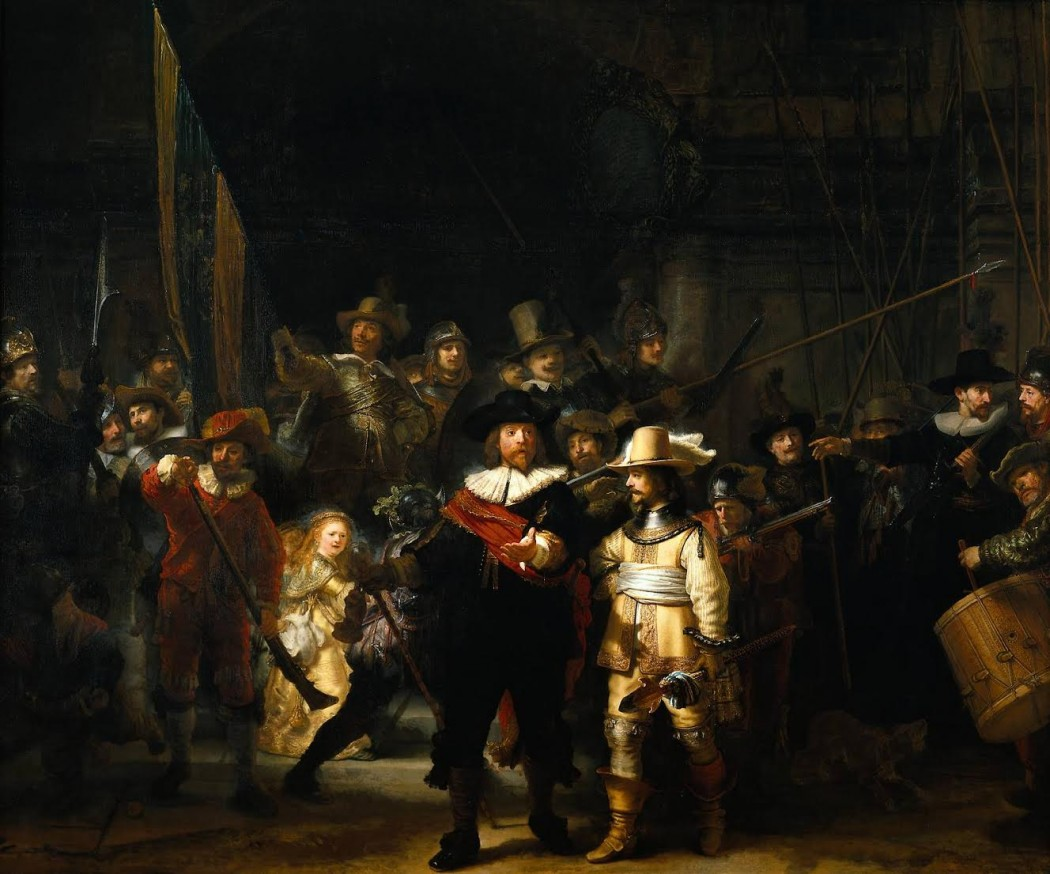 Rembrandt's THE NIGHT WATCH, likely not a good example of London's watch....