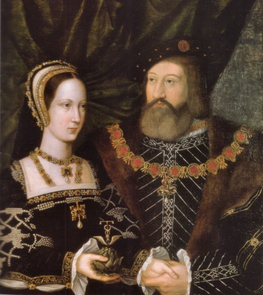 Mary Tudor, Queen of France and Charles Brandon, Duke of Suffolk Marriage Portrait (1516) (Artist Unknown)