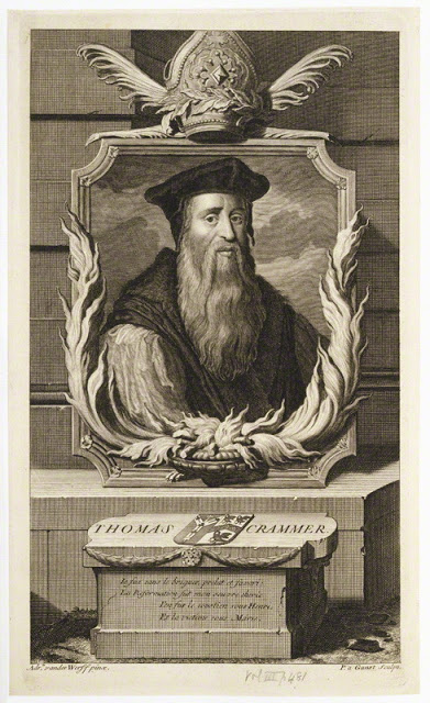 Thomas Cranmer, Archbishop of Canterbury by Pieter Stevens van Gunst line engraving, published 1707 © National Portrait Gallery, London