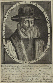 John Foxe by Martin Droeshout line engraving, 1620s-1630s © National Portrait Gallery, London