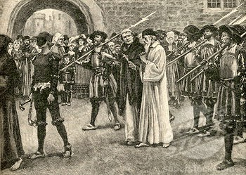 John Frith going to his martyrdom, July 4, 1533 (Credit: Universal Images Group)