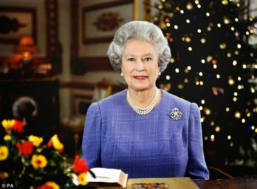 Queen Elizabeth II delivering her Christmas Message Broadcast, 1997