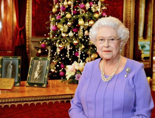 Queen Elizabeth II delivering her Christmas Message Broadcast, 2015