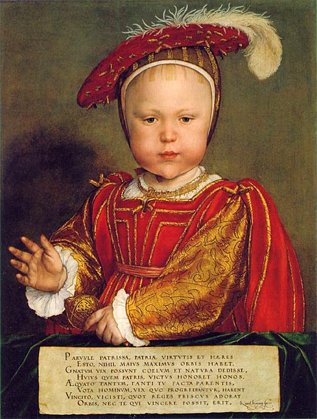 Prince Edward Tudor (later King Edward VI) Artist: Hans Holbein the Younger