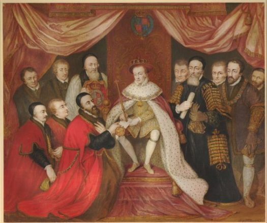 Edward VI granting the Royal Charter to Bridewell Hospital, 1553.