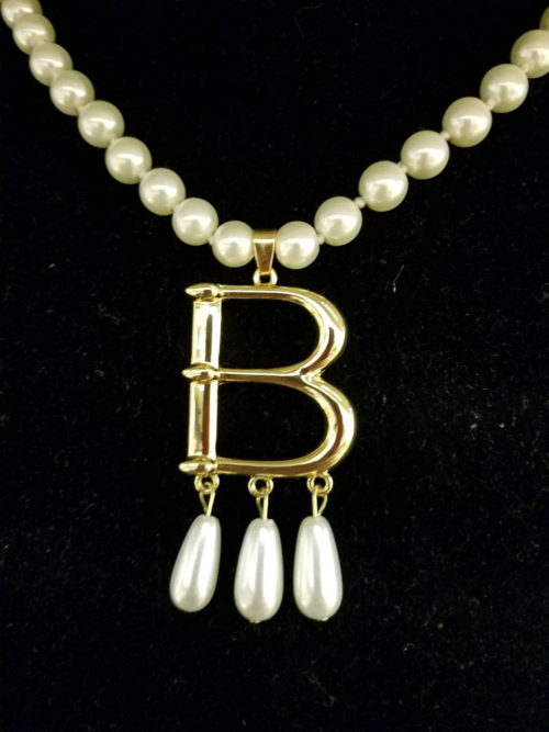 "Anne Boleyn ""B Necklace"" crafted by Sonya Norwood"