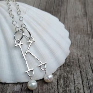 Anne Boleyn Inspired Initial Necklace