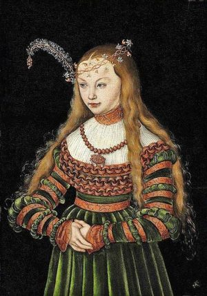 Sybylla of Cleves by Lucas Cranach