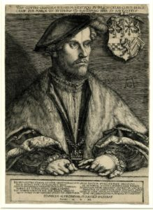 Wilhelm V, Duke of Julich, Kleve and Berg'Print made by Heinrich Aldegrever