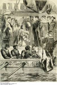 Arrest of Anne Boleyn Victorian Era Engraving