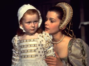 Queen Anne with young Elizabeth I