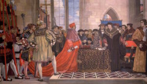Forbes, Vivian, 1891-1937; Sir Thomas More Refusing to Grant Wolsey